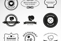 Link to9 creative restaurant label element vector