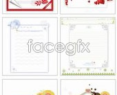 Link to9 cute greeting card stationery vector