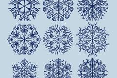 Link to9 dark blue snowflake design vector