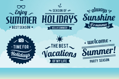 Link to9 dark blue summer tag vector diagrams