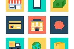 9 e-commerce icon vector