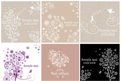 Link to9 elegant patterns card vector