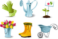 Link to9 exquisite horticultural icon vector