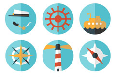 Link to9 exquisite sailing icon vector