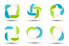 Link to9 fresh colored ring flag vector