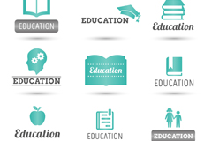 Link to9 fresh education logo vector