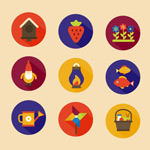 Link to9 gardening icons vector