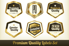 Link to9 gloss quality label vector