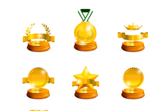 Link to9 gold quality trophy design vector