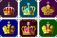Link to9 gorgeous jewelry crown vector