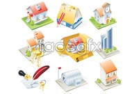 Link to9 housing icon vector