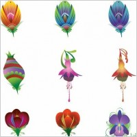 Link to9 illustrated vector flowers