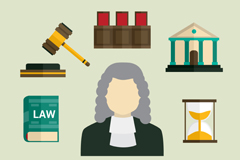 Link to9 legal elements vector