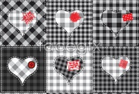 Link to9 love cloth background vector