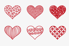 Link to9 love red pattern vector