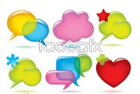 Link to9 lovely bubble dialog box vector graphics