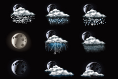 Link to9 night the weather icon vector