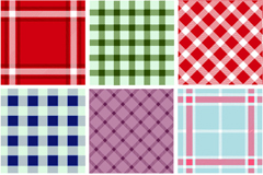 Link to9 plaid background design vector