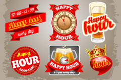 Link to9 red beer label vector