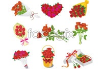 Link to9 romantic rose flower vector graphic s