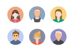 Link to9 round character avatar design vector graph