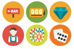 Link to9 round entertainment icon vector
