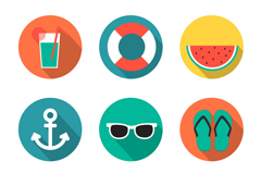 Link to9 round holiday icon vector