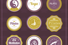 Link to9 round yoga element tag vector