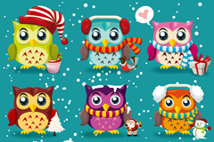 Link to9 section of cartoon festival owl vector