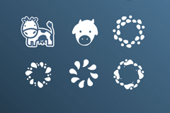 Link to9 section of cartoon milk element icon vector