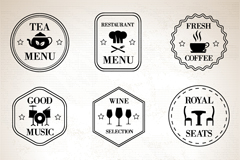 Link to9 simple restaurant tag vector