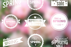 Link to9 spring sale tag vector