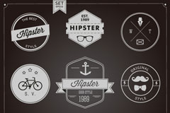 Link to9 stylish retro tags design vector
