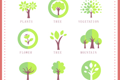 Link to9 trees design vector