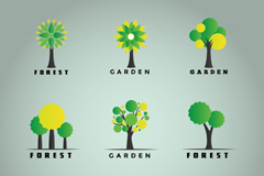 Link to9 trees logo design vector