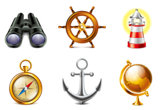 Link to9 types of exquisite sailing icon vector