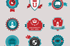 Link to9 university campus logo vector