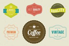 Link to9 vector retro color label