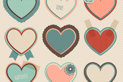 9 vector retro love label