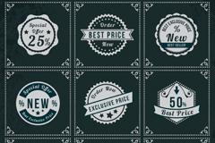 Link to9 vintage discount tag vector