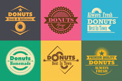 Link to9 vintage donut tag vector