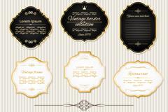 Link to9 vintage gold frame labels vector