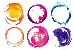 Link to9 watercolors ring design vector