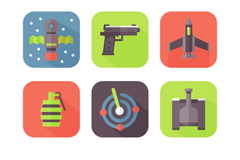 Link to9 weapon icon vector