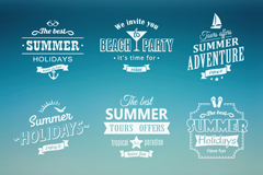 Link to9 white summer holidays tabs vector