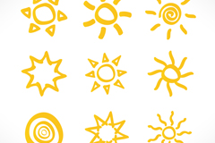 Link to9 yellow sun icon vector