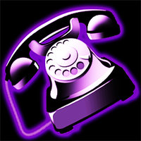Link to_purple pack_ skype or voip icon
