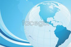 Link toA beautiful blue planet background vector
