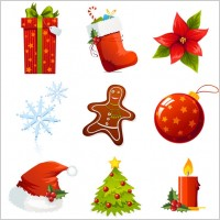 Link toA beautiful christmas icon vector
