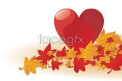 Link toA beautiful maple leaf chinese restaurant and crystal heart-shaped vector